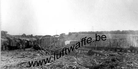 F-62340 Guines. Convoi ferroviaire détruit. Mai 40 (WH1)