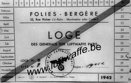 F-75000 Paris. 1942. Carte des Folies Bergères (WL148)