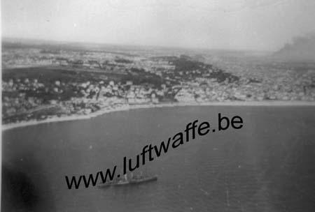 F-76600 Le Havre. Vue aérienne du port. 1940 (WL89)
