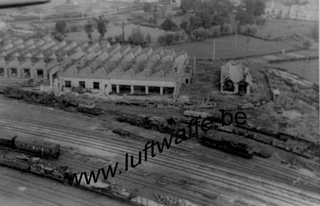 F-Nord de la France fin 40. Gare détruite (WL285)