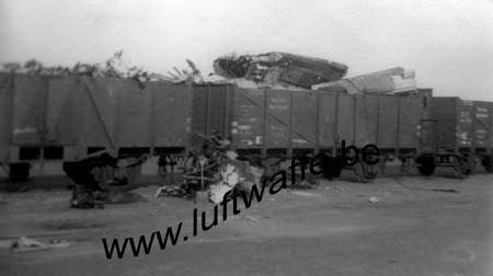 F-Nord de la France. Mai-juin 40. Train détruit (WL273)