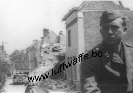 F-Nord de la France. Rue détruite. Mai 40 (B14)