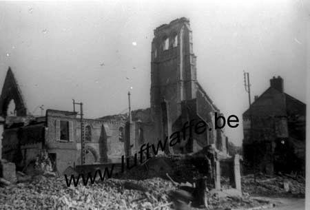 F-Nord de la France. Une église détruite en mai 40 (WH3)