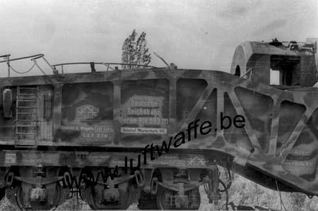 F-26000 Valence. 1944. Canon sur rail capturé (1) (AR89)