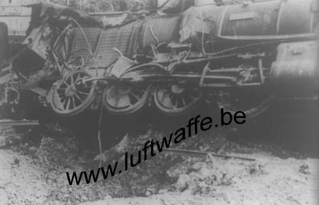 F-27000 Evreux. Juin 40. Train détruit (WL269)