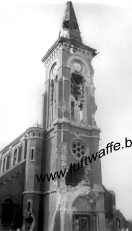 F-59140 Dunkerque (région). Clocher détruit. 1940 (WH58)